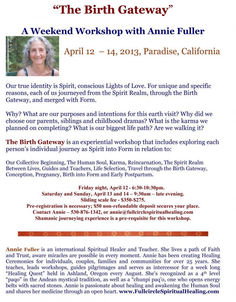 The Birth Gateway Shamanic Workshop
